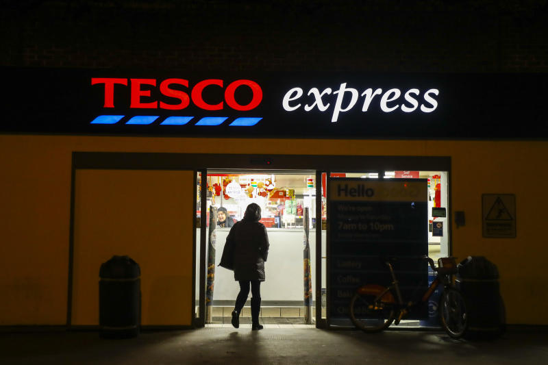 Tesco Express store in London, United Kingdom, on 11 December, 2019. (Photo by Beata Zawrzel/NurPhoto via Getty Images)