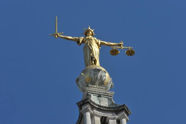 The Lady Justice statue atop the Central Criminal Court, also referred to as the Old Bailey, London (Nick Ansell/PA)