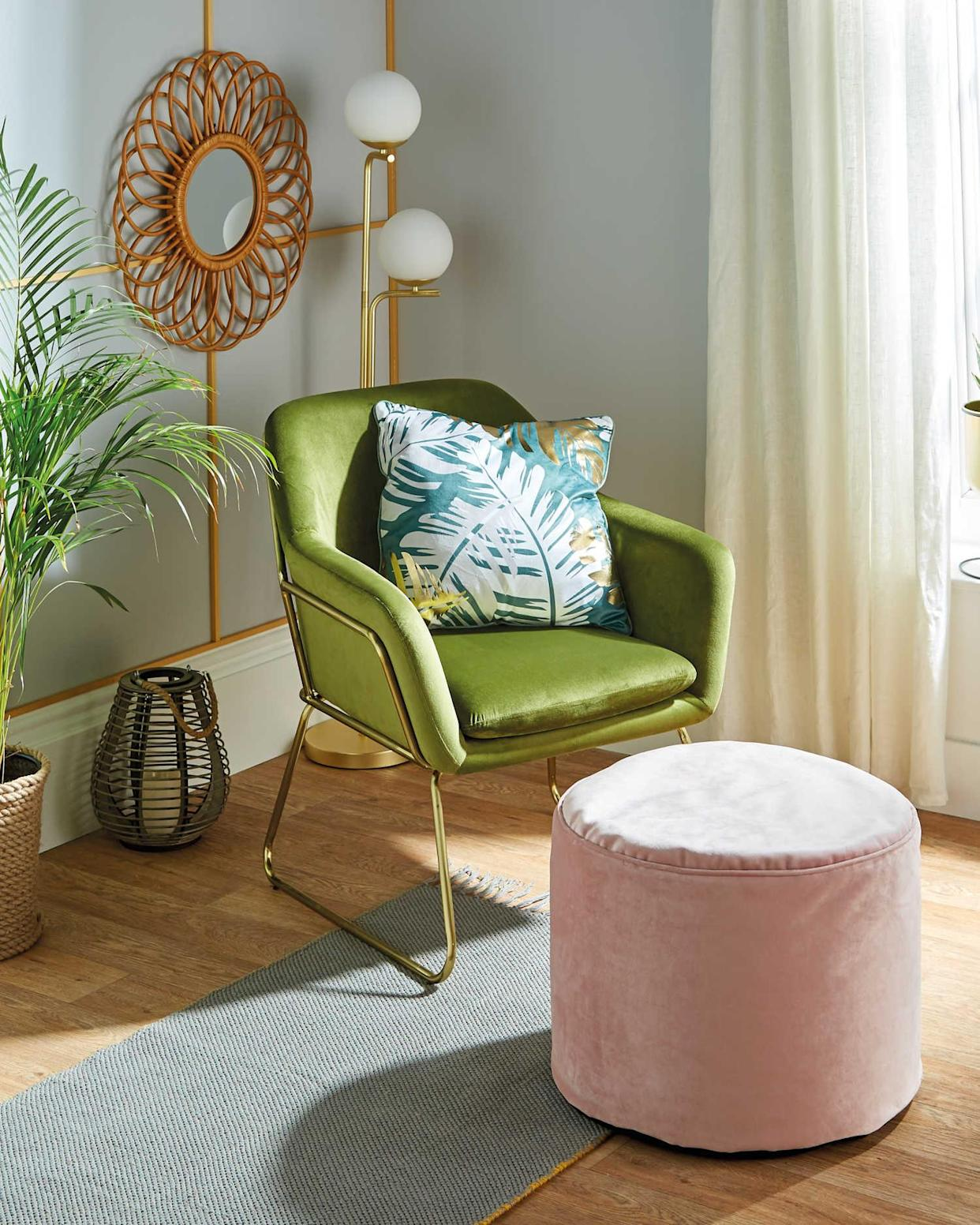 We can't believe how affordable this luxury-looking chair is. (Aldi)