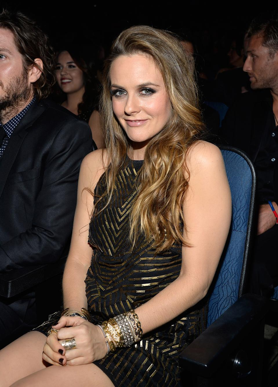 LOS ANGELES, CA - NOVEMBER 24: Actress Alicia Silverstone attends the 2013 American Music Awards at Nokia Theatre L.A. Live on November 24, 2013 in Los Angeles, California. (Photo by Frazer Harrison/AMA2013/FilmMagic)