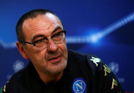 Football Soccer - Napoli news conference - Champions League