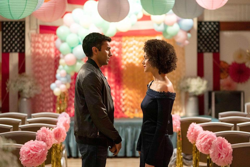 """<p>Based on the iconic rom-com, this miniseries traces the romantic misadventures of a group of friends (and the titular weddings and funeral, of course). The story kicks off when a New York-based political director (Nathalie Emmanuel) gets invited to an old friend's <a class=""""link rapid-noclick-resp"""" href=""""https://www.popsugar.com/Wedding"""" rel=""""nofollow noopener"""" target=""""_blank"""" data-ylk=""""slk:wedding"""">wedding</a> in London. As soon as she arrives, she gets sucked into their personal entanglements and struggles to figure out what it is she actually wants, too.</p> <p><span>Watch <strong>Four Weddings and a Funeral</strong> on Hulu</span>.</p>"""