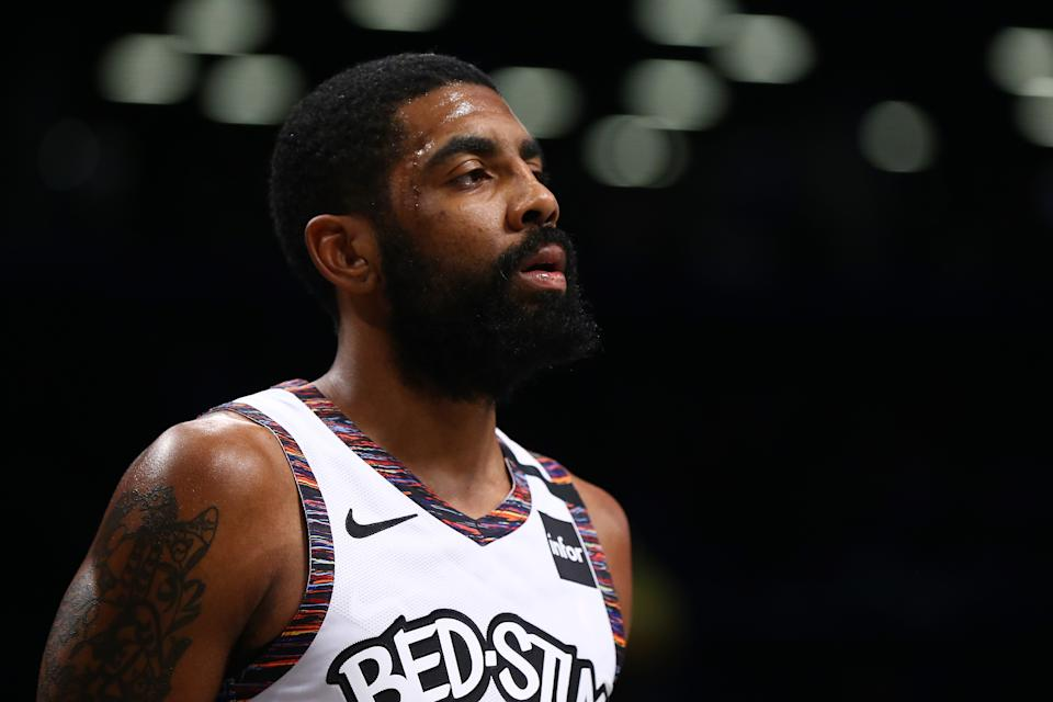"""Kyrie Irving and Avery Bradley co-signed a statement vowing not to """"just shut up and play."""" (Photo by Mike Stobe/Getty Images)"""