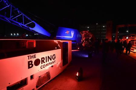 FILE PHOTO:  The Boring Company shows off their first tunnel in Hawthorne, California