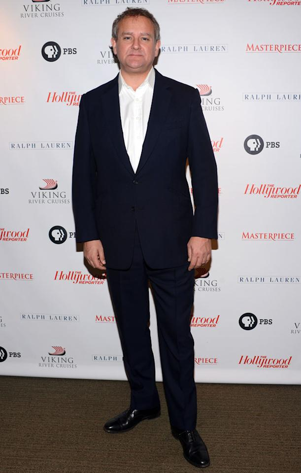 "Hugh Bonneville arrives at The Hollywood Reporter screening of PBS Masterpiece's ""Downton Abbey"" Season 3 on December 7, 2012 in West Hollywood, California."