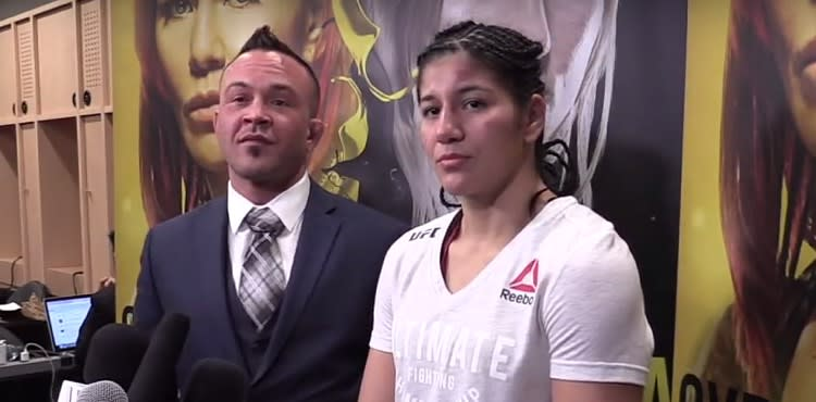 Ketlen Vieira at the UFC 222 Post-Fight Press Conference