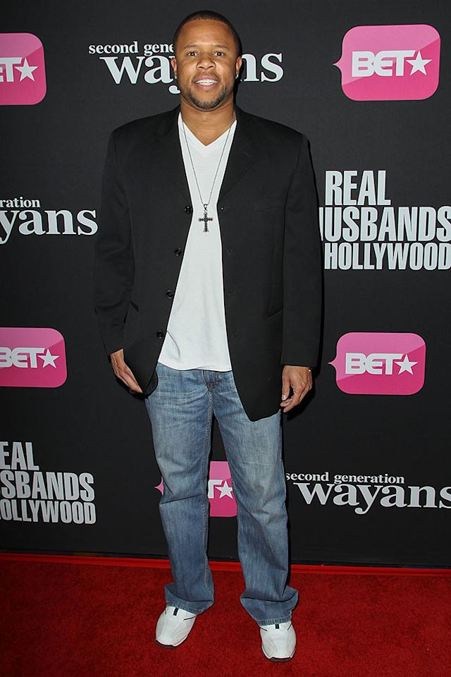 "Brandon Larkins arrives at the screenings of BET Networks' ""Real Husbands of Hollywood"" and ""Second Generation Wayans"" held at the Regal Cinemas L.A. Live on January 8, 2013 in Los Angeles, California."