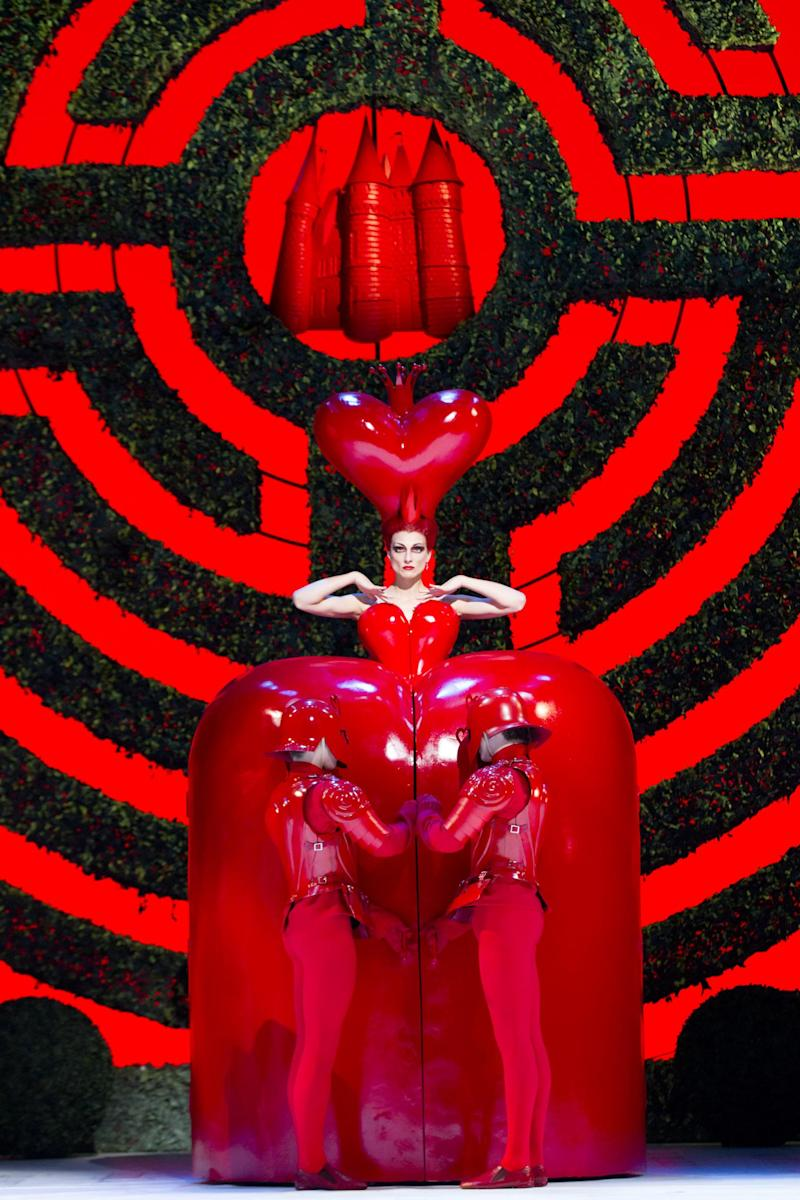 Zenaida Yanowsky as the Red Queen in the Royal Ballet's 2011 production of Alice in Wonderland. Costume designed by Bob Crowley (Johan Persson)