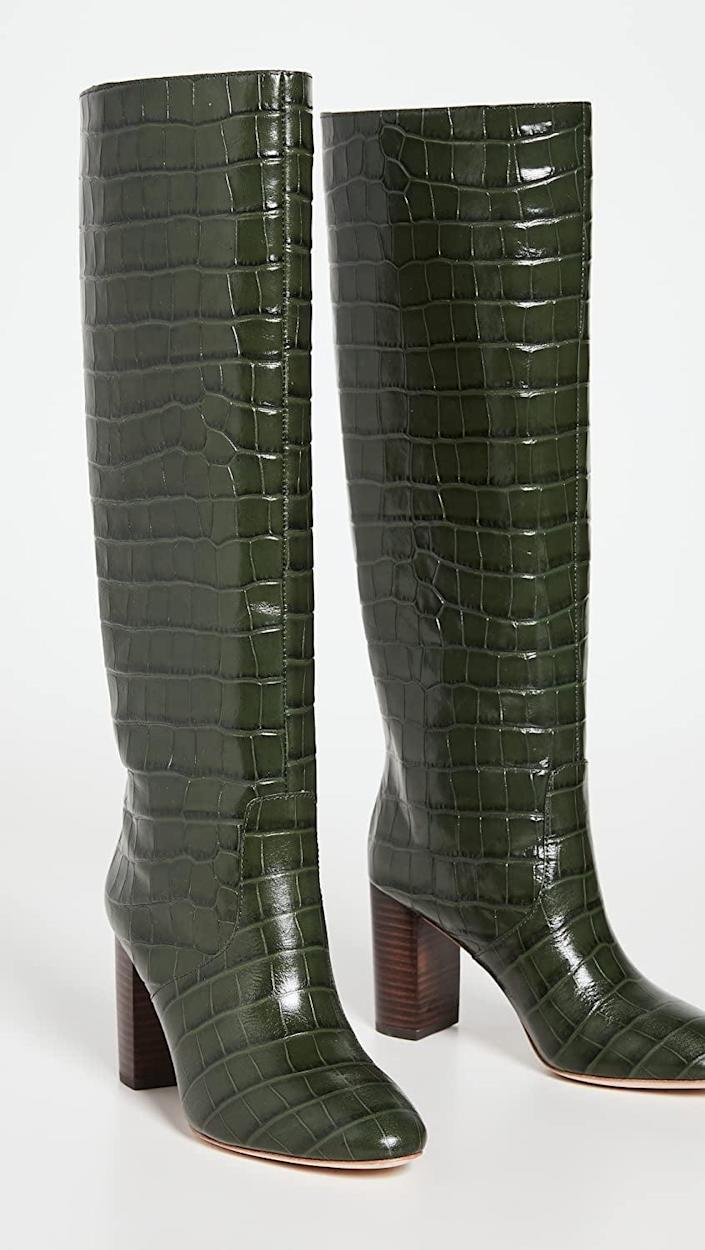 <p>We've been eyeing these <span>Loeffler Randall Goldy Knee High Boots</span> ($695) for so long, this season, we'll definitely swipe our credit card on them. They look luxe and are extremely easy to style. </p>