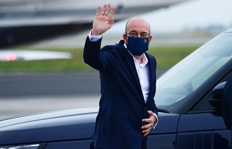 Charles Michel, president of the European Council, arrives in Britain to attend the G7 summit. Photo: Bloomberg