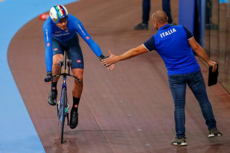 Italy's Filippo Ganna joined road cycling giants Team Ineos in 2019 after two years with UAE Abu Dhabi