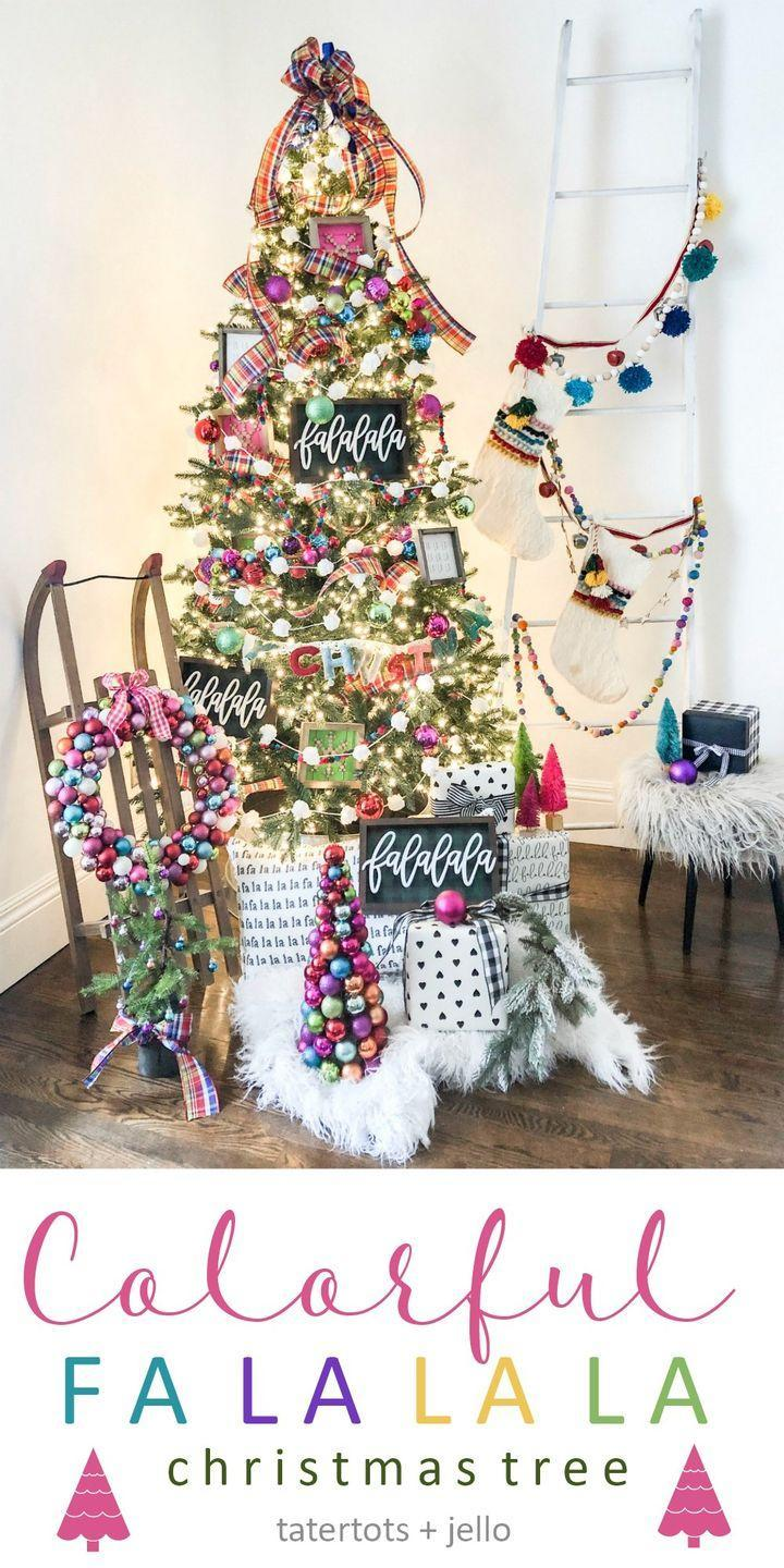 """<p>Say goodbye to your traditional red and dark green ornaments, and say hello to pink, blue, lime green, and purple ones for this colorful spin on Christmas. </p><p><strong><em>Get the tutorial on <a href=""""https://tatertotsandjello.com/how-to-create-a-colorful-christmas-tree/"""" rel=""""nofollow noopener"""" target=""""_blank"""" data-ylk=""""slk:Tatertots & Jello"""" class=""""link rapid-noclick-resp"""">Tatertots & Jello</a>.</em></strong></p><p><a class=""""link rapid-noclick-resp"""" href=""""https://www.amazon.com/ABEYA-Christmas-Ornament-Decoration-Ornaments/dp/B07X41MTQ4/?tag=syn-yahoo-20&ascsubtag=%5Bartid%7C10070.g.2025%5Bsrc%7Cyahoo-us"""" rel=""""nofollow noopener"""" target=""""_blank"""" data-ylk=""""slk:BUY COLORFUL ORNAMENTS"""">BUY COLORFUL ORNAMENTS</a></p>"""