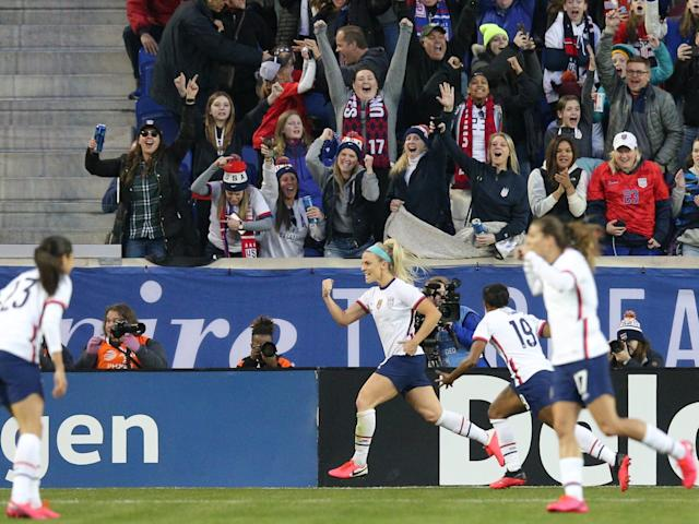 The goal, which came in her 101st cap for the national team, propelled the USWNT to a 1-0 win over Spain in its second of three SheBelieves Cup matches this month.