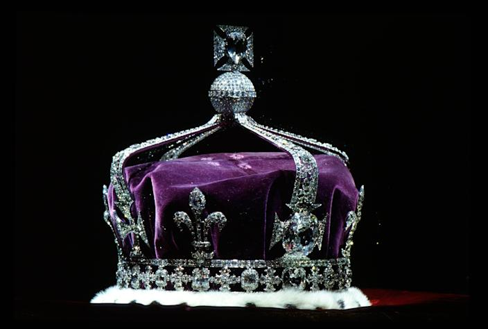 The Crown of Queen Elizabeth, The Queen Mother (1937) made of platinum and containing the famous Koh-i-noor diamond along with other gems - Tim Graham/Getty Images