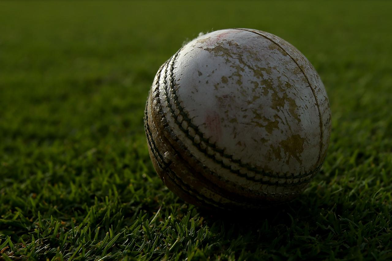 PERTH, AUSTRALIA - FEBRUARY 19: A cricket ball is pictured on the boundary during the Ryobi One Day Cup match between the Western Australia Warriors and the Tasmanian Tigers at the WACA on February 19, 2013 in Perth, Australia.  (Photo by Paul Kane/Getty Images)