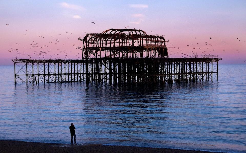 The skeletal remains of Brighton's West Pier - Getty