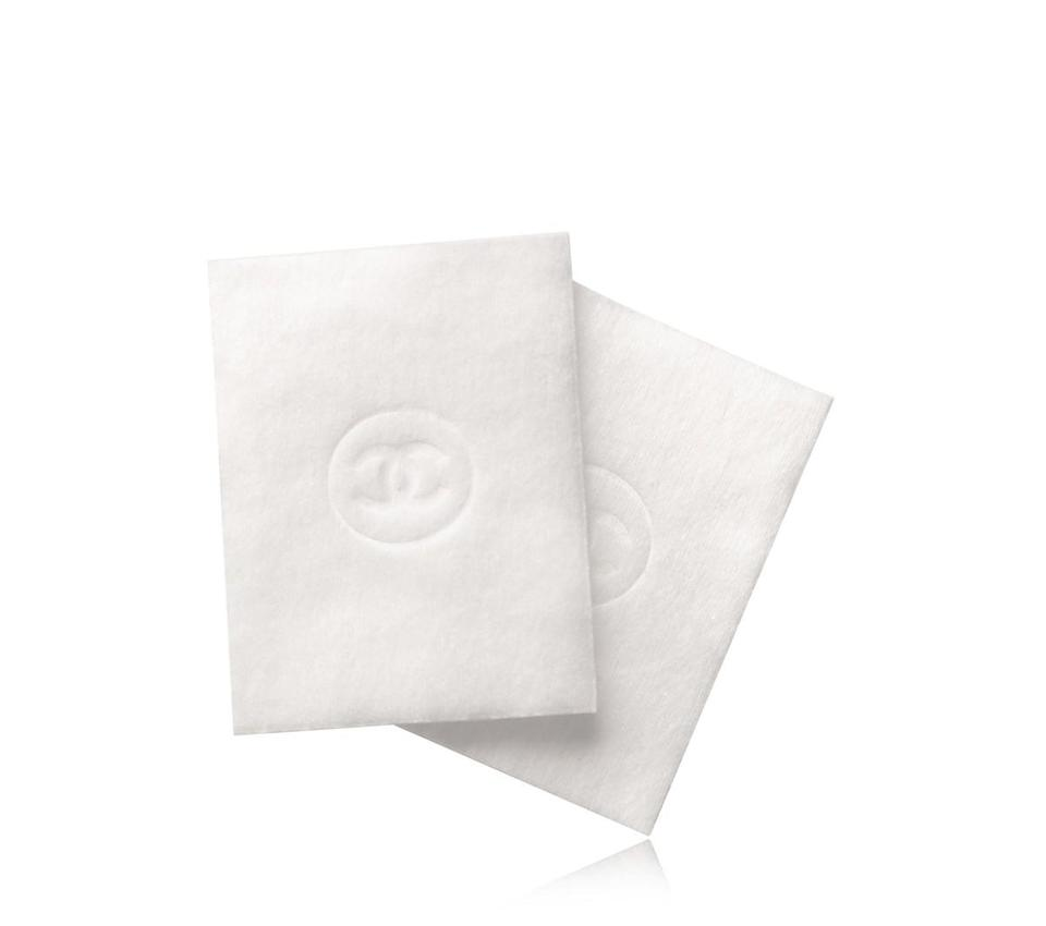 """<p>Why use a normal cotton pad to remove your makeup when you could be using one with the Chanel logo? <a href=""""http://www.chanel.com/en_US/fragrance-beauty/Skincare-Cleansers-%26-Toners-LE-COTON-139111/sku/139112"""" rel=""""nofollow noopener"""" target=""""_blank"""" data-ylk=""""slk:Chanel Le Coton"""" class=""""link rapid-noclick-resp"""">Chanel Le Coton</a> ($20)<br></p>"""