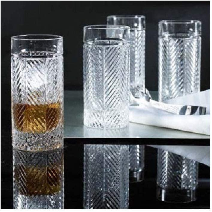 <p>For a fancier get-together, these detailed <span>Ralph Lauren Herringbone Highball Crystal Glasses</span> (4 for $100 and up) are just the thing. </p>