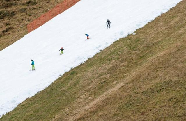 The slope in the popular resort has proved popular with ski enthusiasts and those training for competitions (AFP Photo/JOE KLAMAR)