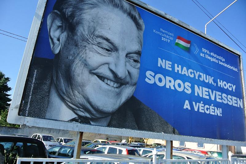 The Hungarian government's anti-Soros campaign has triggered accusations of anti-Semitism (AFP Photo/ATTILA KISBENEDEK)
