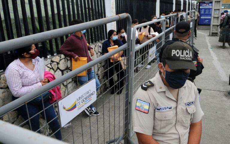 The vote took place amid a backdrop of economic problems exacerbated by a second wave of the coronavirus pandemic that has swept Latin America and claimed 15,000 lives in Ecuador