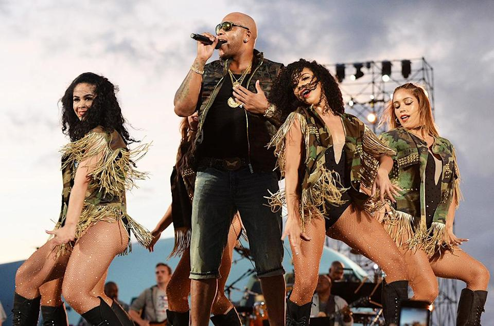 """<p>The song has sold 2,217,000 copies in 2016 (on top of 515K it sold in 2015, when it ranked No. 139 for the year). This is the third time that Flo Rida has had one of the year's top five songs. """"Low"""" (featuring T-Pain) was No. 3 for 2008. """"Right Round"""" was No. 4 for 2009. This is the year's top hip-hop song. (Photo by Kevin Mazur/Getty Images for Spike) </p>"""