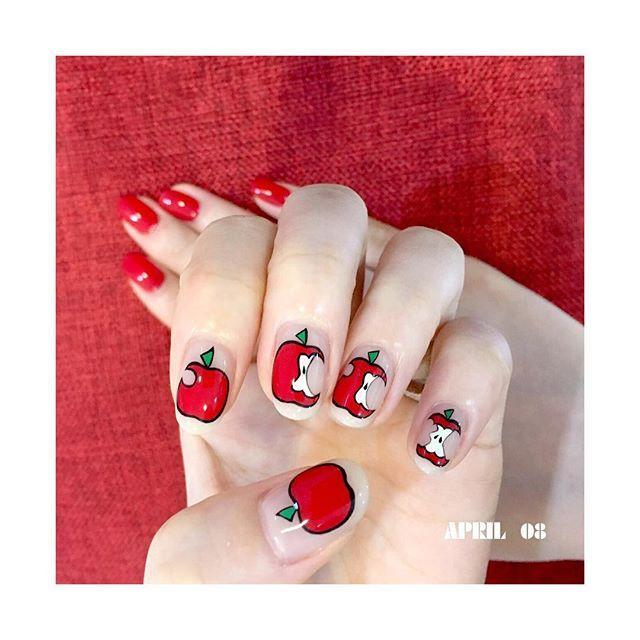 """<p>Why give an apple to your teacher when you can save it for yourself? If drawing an apple proves too difficult, try a nail sticker.</p><p><a class=""""link rapid-noclick-resp"""" href=""""https://www.amazon.com/BinaryABC-Fruit-Slices-Decorations-Supplies/dp/B07TBFRSYN/?tag=syn-yahoo-20&ascsubtag=%5Bartid%7C10055.g.22590646%5Bsrc%7Cyahoo-us"""" rel=""""nofollow noopener"""" target=""""_blank"""" data-ylk=""""slk:SHOP APPLE NAIL STICKERS"""">SHOP APPLE NAIL STICKERS</a></p><p><a href=""""https://www.instagram.com/p/BYX6BrxhyCp/&hidecaption=true"""" rel=""""nofollow noopener"""" target=""""_blank"""" data-ylk=""""slk:See the original post on Instagram"""" class=""""link rapid-noclick-resp"""">See the original post on Instagram</a></p>"""
