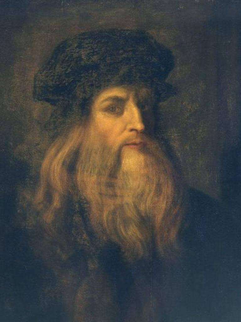 Leonardo da Vinci, self-portrait, circa 1500 (Rex Features)