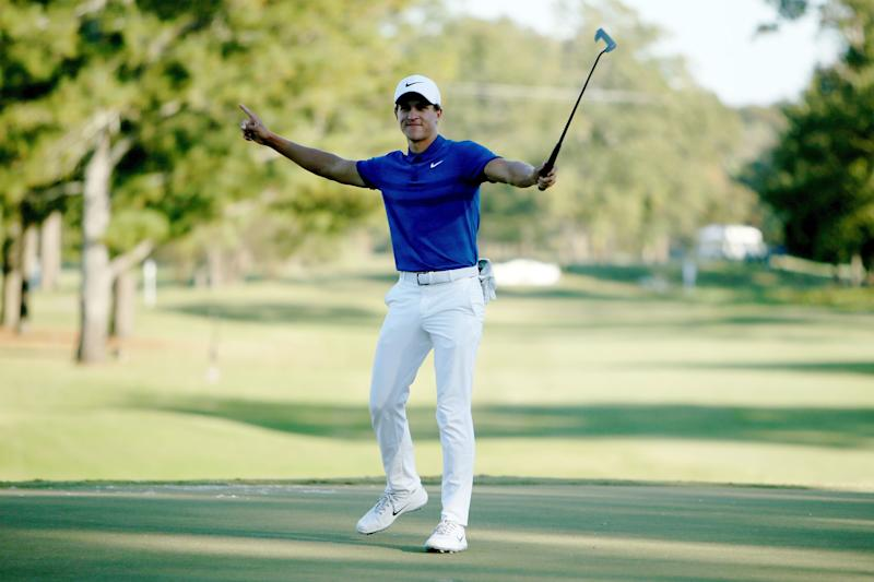in just his ninth career PGA Tour start, Champ was a winner at the Sanderson Farms Championship.