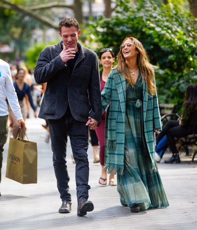 Jennifer Lopez and Ben Affleck are seen on Sept. 26 in New York City. (Photo: Gotham via Getty Images)