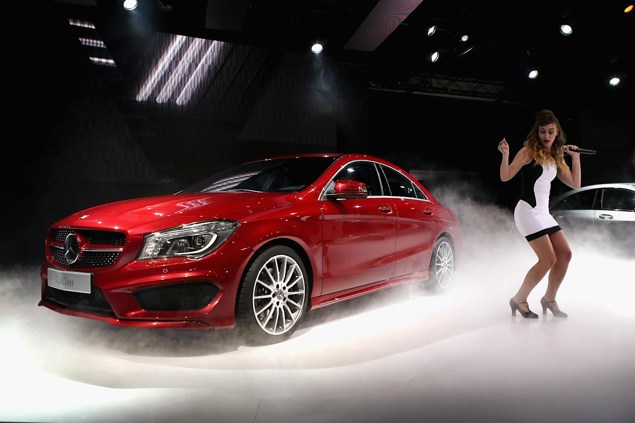 Mercedes-Benz introduces the 2014 CLA at the North American International Auto Show on January 13, 2013 in Detroit, Michigan. The auto show will be open to the public January 19-27.  (Photo by Scott Olson/Getty Images)
