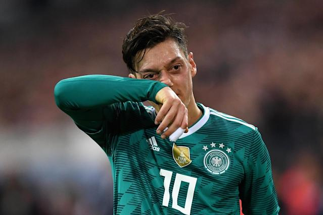 Mesut Ozil returns to Arsenal early after pulling out of Germany squad ahead of Brazil friendly