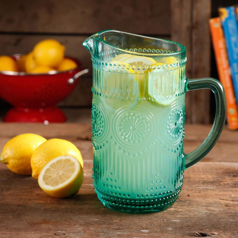 """<p>Decorative and functional, the pitcher is perfect for serving up favorite beverages or elegantly displaying a fresh bouquet of flowers. Available at Walmart, <a href=""""http://yahooshopping.pgpartner.com/plr.php?id=18221"""" rel=""""nofollow noopener"""" target=""""_blank"""" data-ylk=""""slk:$12.72"""" class=""""link rapid-noclick-resp"""">$12.72</a>.</p>"""