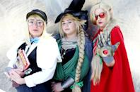 <p>Cosplayers dressed as characters from <em>Dungeons and Dragons</em> at Comic-Con International on July 20 in San Diego. (Photo: Mario Tama/Getty Images) </p>