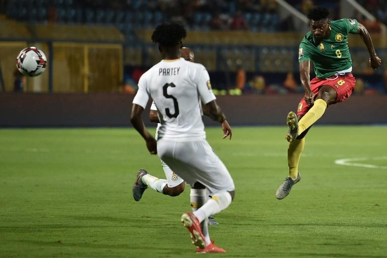 Frank Zambo Anguissa (R) was part of the Cameroon squad at the 2019 Africa Cup of Nations in Egypt