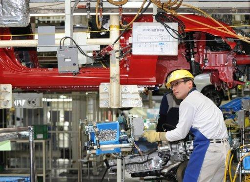 Japan's industrial production rose by a slower-than-expected 0.2% in April from the previous month