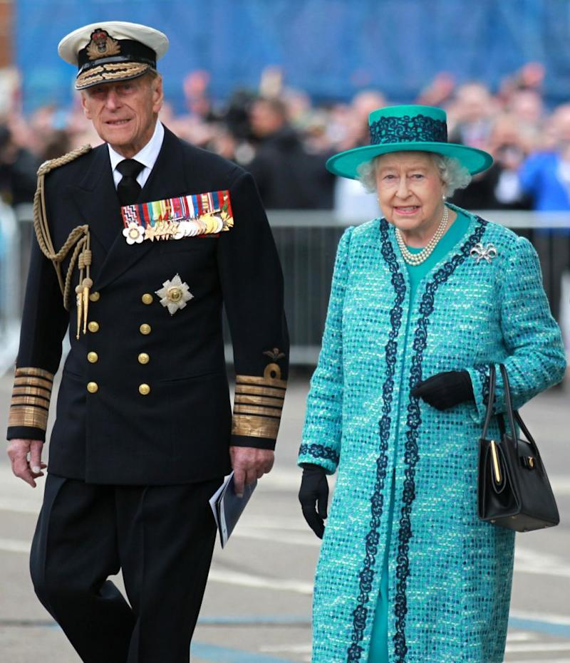 The royals seem to take cues from Queen Elizabeth who doesn't engage in PDAs with Prince Phillip. Photo: Getty