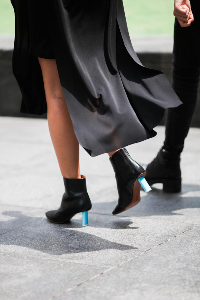 <p>Love ankle boots? Pair them with soft and flowy fabrics to keep you comfortable. (Photo: Don Wong) </p>