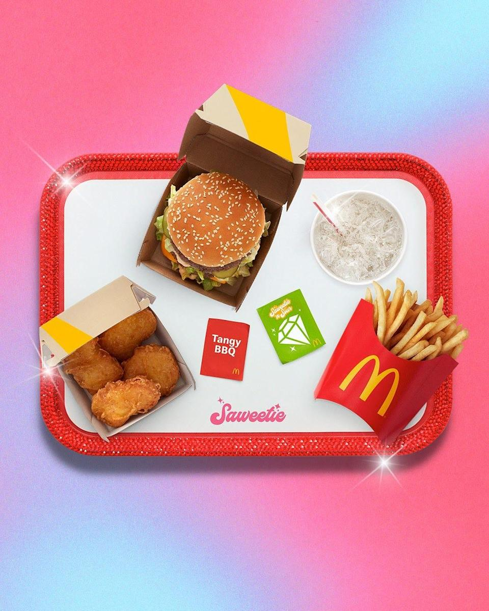 McDonald's has unveiled its next celebrity meal, The Saweetie Meal.