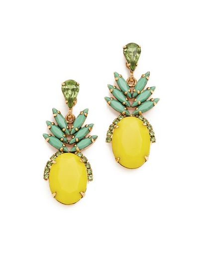 "<p>Elizabeth Cole Ananas Earrings, $148, <a rel=""nofollow"" href=""https://www.polyvore.com/elizabeth_cole_ananas_earrings/thing?id=208128779"">shopbop.com</a> </p>"