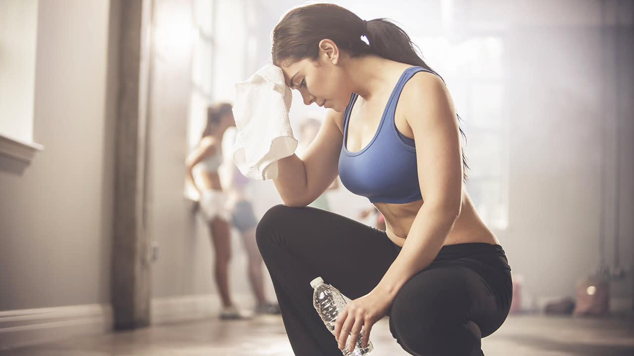 "<p>Huffing and puffing on a short walk to the shops? Don't be too quick to put this down to your fitness. ""Exhaustion while doing simple activities is a common symptom of iron deficiency,"" explains iron deficiency specialist and <a href=""http://theironclinic.com/"">Iron Clinic</a> founder Professor Toby Richards. ""This can lead to shortness of breath and muscle aches and cramps."" <i>[Photo: Getty]</i></p>"