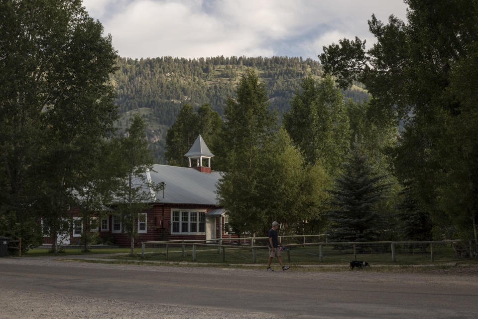 The Old Wilson Schoolhouse, where Sofia LaRocca and Beau Maier worked at a Democratic Party fundraiser in August 2019 near Jackson Hole, Wyo., June 23, 2021. (Ryan Dorgan/The New York Times)