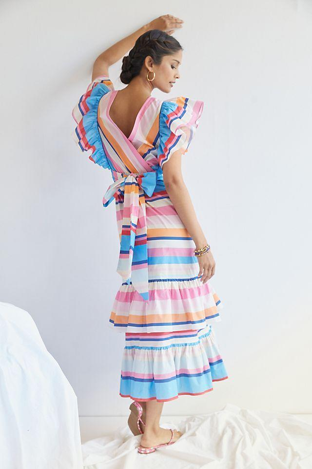 """<br><br><strong>Plenty by Tracy Reese</strong> Ruffled Maxi Dress, $, available at <a href=""""https://go.skimresources.com/?id=30283X879131&url=https%3A%2F%2Fwww.anthropologie.com%2Fshop%2Fplenty-by-tracy-reese-ruffled-maxi-dress"""" rel=""""nofollow noopener"""" target=""""_blank"""" data-ylk=""""slk:Anthropologie"""" class=""""link rapid-noclick-resp"""">Anthropologie</a>"""