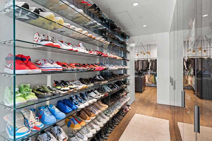 The residence features closet space fit for a supermodel.