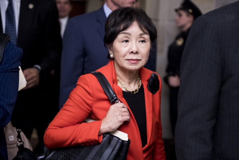 UNITED STATES - NOVEMBER 28: Rep. Doris Matsui, D-Calif., leaves the CVC Auditorium during a break in the House Democrats' organizational caucus meeting on Wednesday, Nov. 28, 2018. (Photo By Bill Clark/CQ Roll Call)