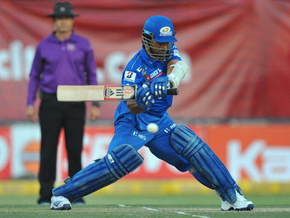 JOHANNESBURG, SOUTH AFRICA - OCTOBER 14:  Sachin Tendulkar of Mumbai cuts a delivery during the Karbonn Smart CLT20 match between bizhub Highveld Lions and Mumbai Indians at Bidvest Wanderers Stadium on October 14, 2012 in Johannesburg, South Africa. (Photo by Duif du Toit / Gallo Images/Getty Images)