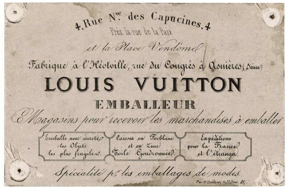 Louis Vuitton was a packing specialist when he opened his house in 1854. - Credit: Courtesy
