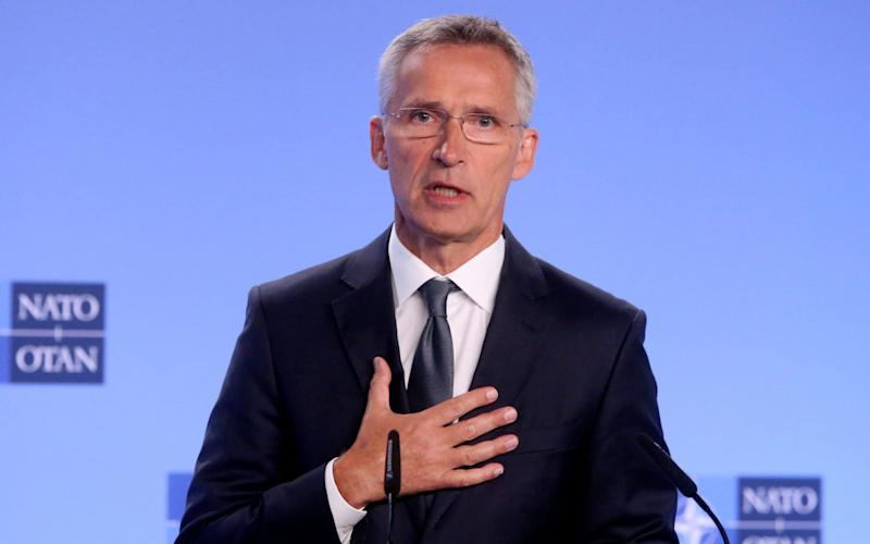 Nato secretary general Jens Stoltenberg comments on the end of the intermediate-range nuclear forces treaty - REUTERS