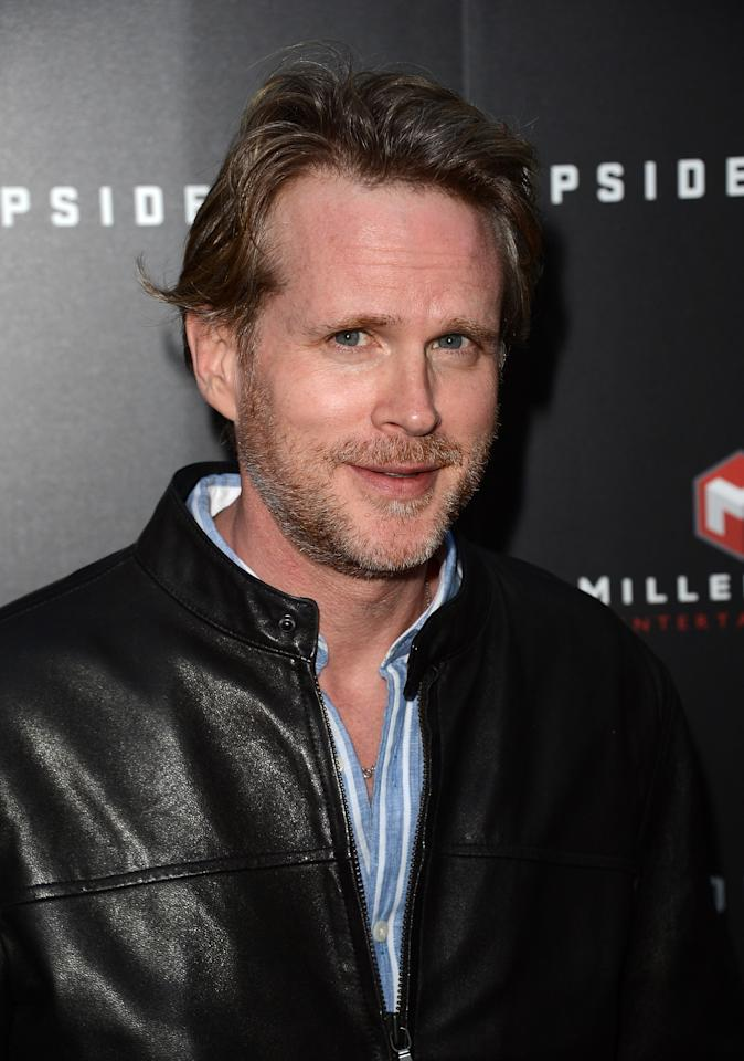 "HOLLYWOOD, CA - MARCH 12:  Actor Cary Elwes arrives at a special LA screening of Millennium Entertainment's ""Upside Down"" at ArcLight Hollywood on March 12, 2013 in Hollywood, California.  (Photo by Jason Merritt/Getty Images)"