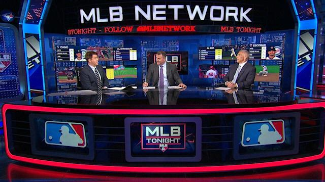 Joe Girardi is doling out baseball advice nightly on MLB Network. (Image via MLB Network)